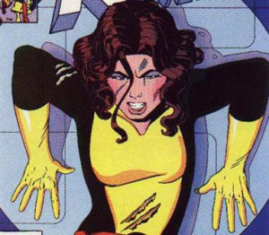 This is Kitty Pryde. She wrecks machines.